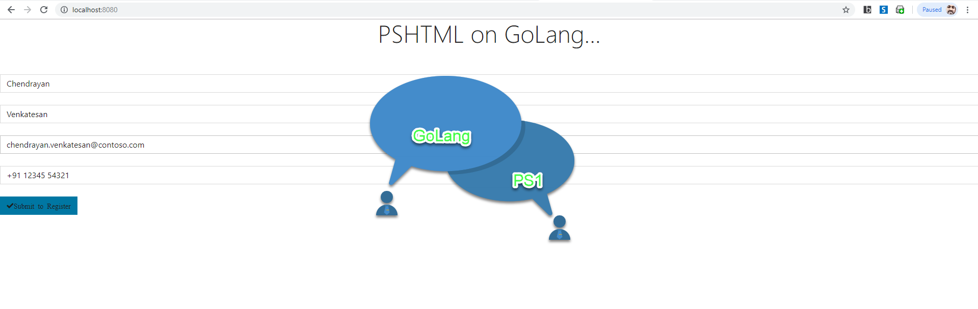 Build web app using PowerShell PSHTML module in Go Lang! – Chen V